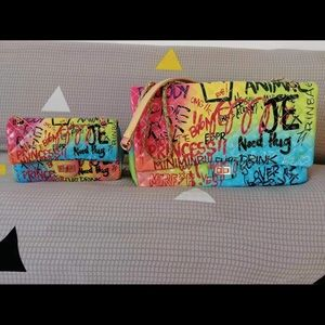 Large or Mini Multicolor Letter Bags